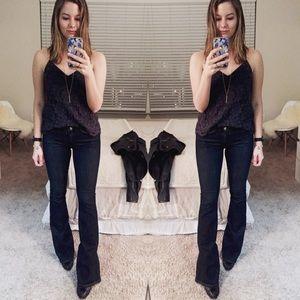 FRAME Le High Flare Jeans Dark Wash, Size 26